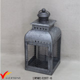 Galvanized Square Metal Vintage Lanterns for Candles