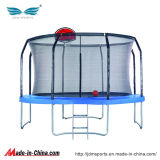 Wholesale Round Fiber Rods Trampoline with Basketball Hoop