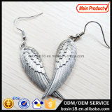 Retro Silver Plated Wing Eardrop Fashion Earring #21305