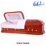 Cheap Classical Cloth Covered Solid Poplar Octagon Wood Coffin and Caskets