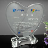 Selling Crystal Heart Award and Crystal Trophy