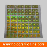 Custom 3D Hologram Self Adhesive Gold Laser Sticker