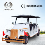 Ce Approved 48V/5kw High Quality Aluminium Chassis 8 Person Sightseeing Car Retro Scooter