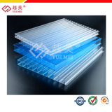 Lake Blue Green Frosted PC Hollow Sheets for Roofing Ceiling