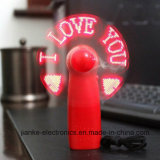 High Quality Mini Hand Held LED Light Fan with Logo Printed (3509)