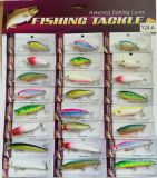24PCS Assorted Hard Plastic Fishing Lures Wobbler Combo Set