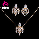 Dubai Gold Plated Micro Pave Marquise CZ Cubic Zirconia Jewelry Set