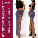 Women Polyester Long Pencil Skirt (L396-4)
