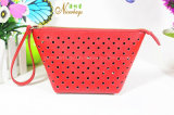 Latest Hot Selling Hollow-out PU Cosmetic Bag for Women