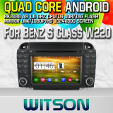 Witson S160 Car DVD GPS Player for Benz S Class W220 with Rk3188 Quad Core HD 1024X600 Screen 16GB Flash 1080P WiFi 3G Front DVR DVB-T Mirror-Link (W2-M220)