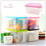 Stackable Home Storage Box for Vegetable/Fruit/Rice with Handle