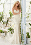 2016 New Design Spaghetti Strap Lace Mermaid Wedding Dress