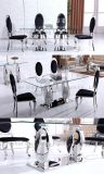 Moderate Price Glass Top Twin Metal Support Dining Table