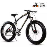 "26"" 4.0 Fat Tire Bicycle with Suspension Forkl, Steel Frame 21 Speed Mountain Bicycle"
