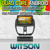 Witson S160 for Peugeot 207 (2013) Car DVD GPS Player with Rk3188 Quad Core HD 1024X600 Screen 16GB Flash 1080P WiFi 3G Front DVR DVB-T Mirror-Link (W2-M207)