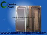 Economical Materials Ivory and Brown PVC Foam Sheet Door