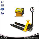 China Manufacturer Material Handling Tools 2tt Hydraulic Pallet Jack with Scale