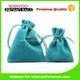 Light Blue Velvet Material Bracelet Jewellery Drawstring Pouch
