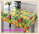 PVC Printed Transparent Tablecloth Wedding/Party Used