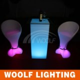 LED Plastic Commercial Bar Stool High Chairs