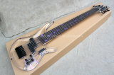 Hanhai Music/Transparent Acrylic Electric Bass Guitar with 7 Strings