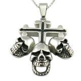 Biker Cross Religious Necklace Metal Pendant