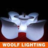 Modern Outdoor LED Plastic Glow Wedding Table