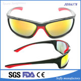 China Supplier Two-Color PC Lens Cycling Running Coating Sunglasses