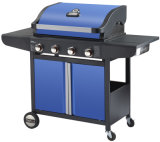 Powder Coated 4 Burner Gas Barbecue Grill with Ce