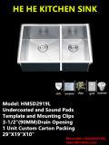 Double Bowl Handmade Sink, Customized Stainless Steel Sink, Zero Radius Kitchen Sink Hmsd2919L