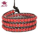 Fashion Handmade Red Beads Bracelet (2015 Wvb-138)