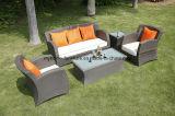 Outdoor Garden Synthetic Rattan Restaurant Furniture Coffee Table Set
