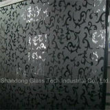 Acid Etched Black Lacquered/Painted Glass