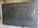 Natural Stone Volga Blue Ukraine Diamond Black Blue Granite Slabs