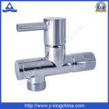 Polished Brass Angle Valve with Zinc Handle (YD-5036)