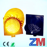 Eye Catching Solar Powered LED Yellow Flashing Warning Light for Roadway Safety
