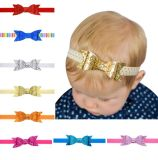 Baby Girls Headband Bowknot Sequin Hair Bands Accessories