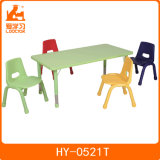 Square Kindergarten Children Study Table with 4 Different Chairs