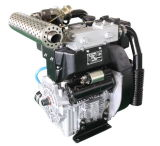 China Made Turbochargered Turbo Air Cooled Dual Twin 2 Cylinder Diesel Engine Motor for Water Pump Genset Generator 18kw 24.5HP 3000rpm Model Twdt292f