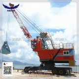 Port Mobile Tyre Crane with Grab for Barge Handling
