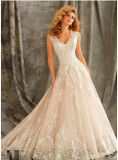 2017 Lace A-Line Prom Evening Cocktail Bridal Wedding Dresses WD1344