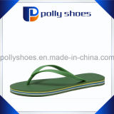 Pure Green Color Rubber Flat Flip Flop Men Slipper