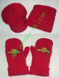 Thick Knitted Gague 3pieces Set, Crochet 3piece Set