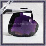 Purple Heart Shape Glass Bead