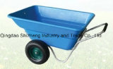Plastic Tray Dual Wheel 260L Wheelbarrow (WB3090)
