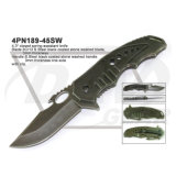 """4.3"""" Closed Spring Assistant Tactical Knife with Stone Washed: 4pn189-45sw"""