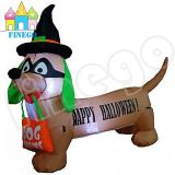 Cheap Inflatable Happy Halloween Dog with Bag Decoration for Sale