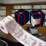 Merry Christmas Printed Toilet Roll Customized Bathroom Tissue Paper Towel