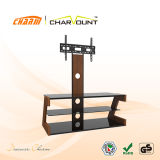 High Quality Tempered Glass & MDF Adjustable LCD TV Stand Have Special Word Design (CT-FTVS-CMW101)