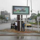 Unipole Support Advertising Aluminium Display Box
